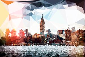 Low Poly New York Art - Manhattan Cityscape by Philippe Hugonnard