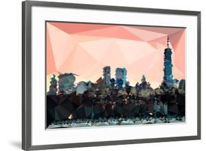 Low Poly New York Art - Manhattan Coral by Philippe Hugonnard