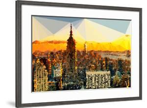 Low Poly New York Art - Manhattan Downtown by Philippe Hugonnard