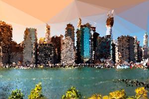 Low Poly New York Art - Manhattan Skyline by Philippe Hugonnard
