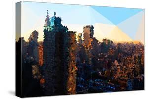 Low Poly New York Art - Manhattan Sunrise by Philippe Hugonnard
