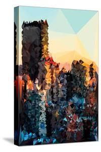 Low Poly New York Art - New York Sunset Pastel II by Philippe Hugonnard