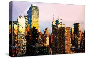 Low Poly New York Art - NYC Sunset by Philippe Hugonnard