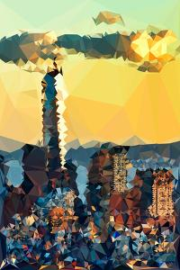 Low Poly New York Art - One World Trade Center Sunset II by Philippe Hugonnard