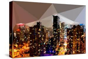 Low Poly New York Art - Silver Night by Philippe Hugonnard