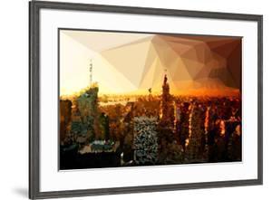 Low Poly New York Art - Skyline Sunset by Philippe Hugonnard