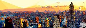 Low Poly New York Art - Skyscrapers by Philippe Hugonnard