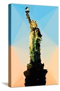 Low Poly New York Art - Statue of Liberty by Philippe Hugonnard
