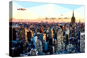 Low Poly New York Art - Sunset Manhattan by Philippe Hugonnard