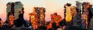 Low Poly New York Art - Sunset Pastel II by Philippe Hugonnard