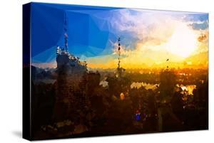 Low Poly New York Art - Sunset View by Philippe Hugonnard