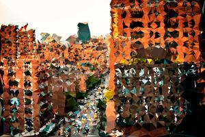 Low Poly New York Art - Sunset by Philippe Hugonnard