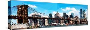 Low Poly New York Art - The Brooklyn Bridge by Philippe Hugonnard