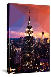 Low Poly New York Art - The Empire State Building by Night by Philippe Hugonnard