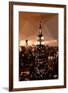 Low Poly New York Art - The Empire State Building by Philippe Hugonnard