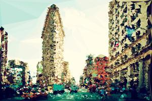 Low Poly New York Art - The Flatiron Building III by Philippe Hugonnard