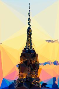 Low Poly New York Art - Top of the Empire state Building III by Philippe Hugonnard