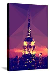 Low Poly New York Art - Top of the Empire state Building by Philippe Hugonnard