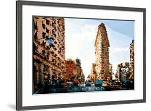 Low Poly New York Art - USA Brooklyn by Philippe Hugonnard