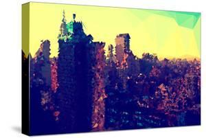 Low Poly New York Art - Yellow Manhattan by Philippe Hugonnard