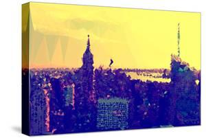 Low Poly New York Art - Yellow Sunset by Philippe Hugonnard