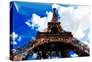 Low Poly Paris Art - Eiffel Tower II by Philippe Hugonnard