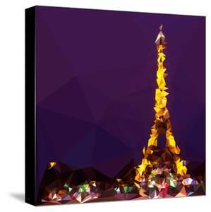 Low Poly Paris Art - The Eiffel Tower II by Philippe Hugonnard