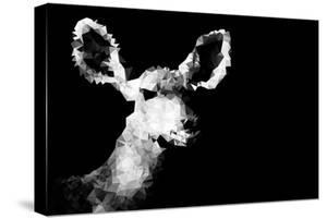 Low Poly Safari Art - Antelope - Black Edition II by Philippe Hugonnard