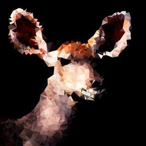 Low Poly Safari Art - Antelope - Black Edition III by Philippe Hugonnard