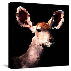 Low Poly Safari Art - Antelope - Black Edition III by Philippe Hugonnard