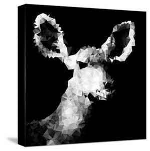 Low Poly Safari Art - Antelope - Black Edition IV by Philippe Hugonnard