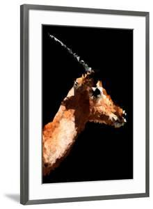 Low Poly Safari Art - Antelope - Black Edition V by Philippe Hugonnard