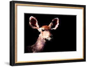 Low Poly Safari Art - Antelope - Black Edition by Philippe Hugonnard