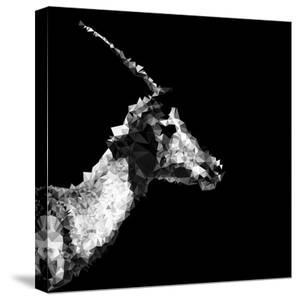 Low Poly Safari Art - Antelope Profile - Black Edition II by Philippe Hugonnard