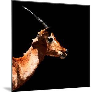 Low Poly Safari Art - Antelope Profile - Black Edition by Philippe Hugonnard