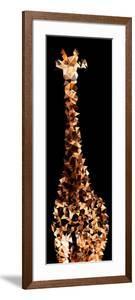 Low Poly Safari Art - Giraffes - Black Edition III by Philippe Hugonnard