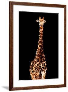 Low Poly Safari Art - Giraffes - Black Edition by Philippe Hugonnard