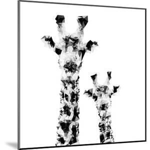 Low Poly Safari Art - Giraffes - White Edition II by Philippe Hugonnard