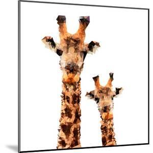 Low Poly Safari Art - Giraffes - White Edition by Philippe Hugonnard
