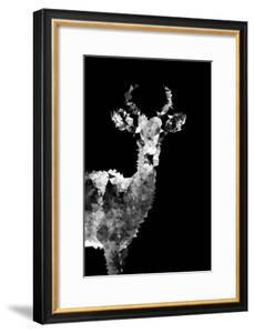 Low Poly Safari Art - Impala Antelope - Black Edition II by Philippe Hugonnard
