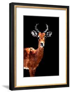 Low Poly Safari Art - Impala Antelope - Black Edition by Philippe Hugonnard