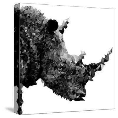 Low Poly Safari Art - Rhino - White Edition II