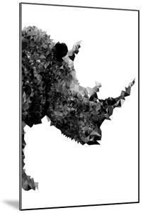 Low Poly Safari Art - Rhino - White Edition by Philippe Hugonnard