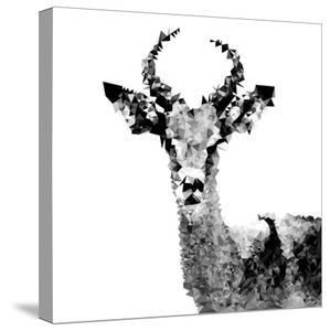 Low Poly Safari Art - The Antelope - White Edition II by Philippe Hugonnard