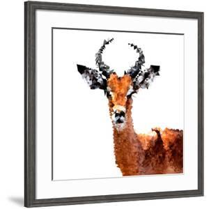 Low Poly Safari Art - The Antelope - White Edition by Philippe Hugonnard