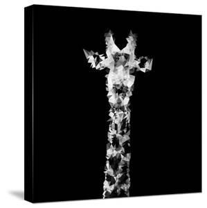 Low Poly Safari Art - The Giraffe - Black Edition II by Philippe Hugonnard