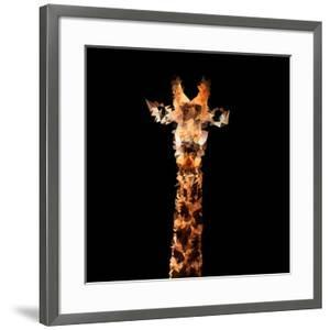 Low Poly Safari Art - The Giraffe - Black Edition by Philippe Hugonnard