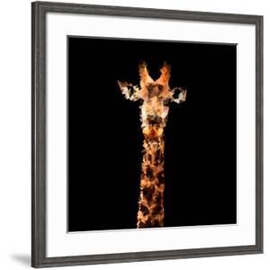 Low Poly Safari Art - The Giraffe - Black Edition by Philippe Hugonnard