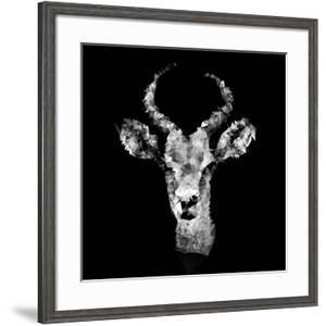 Low Poly Safari Art - The Look of Antelope - Black Edition II by Philippe Hugonnard