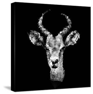 Low Poly Safari Art - The Look of Antelope - Black Edition II by Philippe Hugonnard